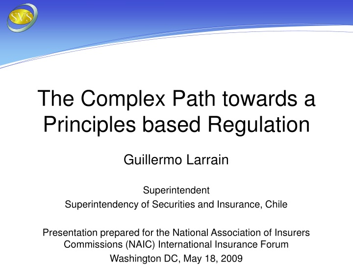 the complex path towards a principles based regulation n.