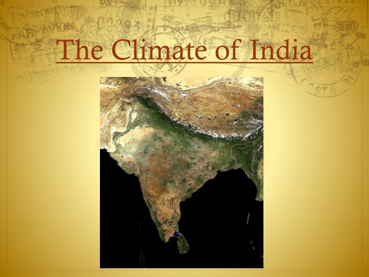the climate of india n.