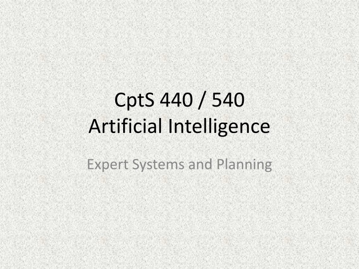 cpts 440 540 artificial intelligence n.