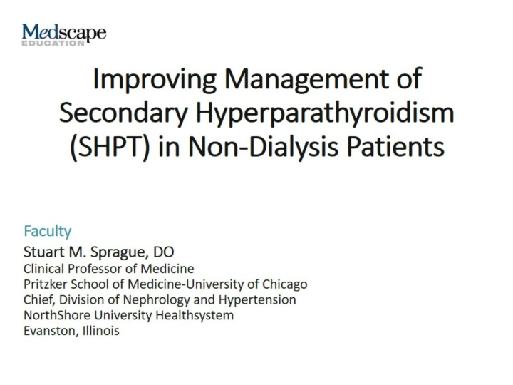 improving management of secondary hyperparathyroidism shpt in non dialysis patients n.