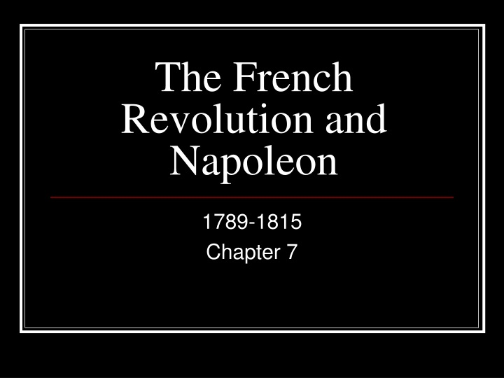 the french revolution and napoleon n.