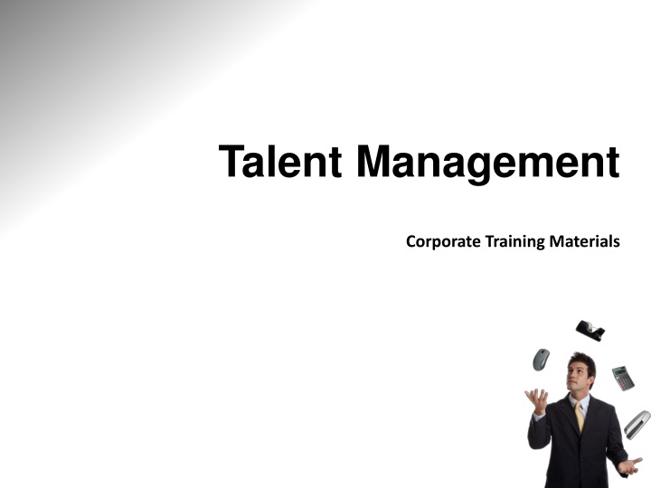 talent management corporate training materials n.