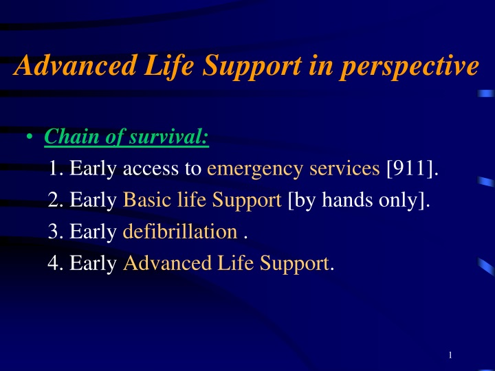 advanced life support in perspective n.