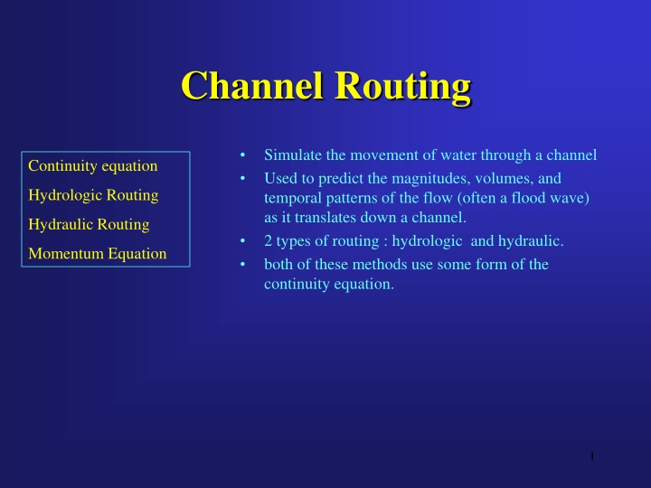 channel routing n.