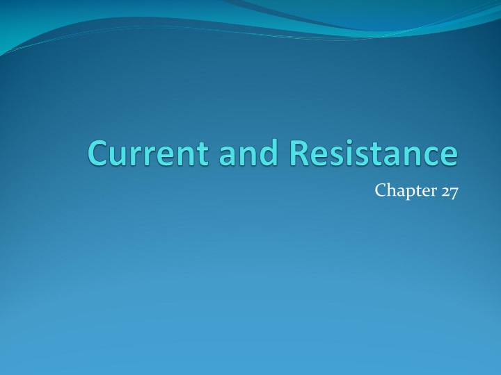 current and resistance n.