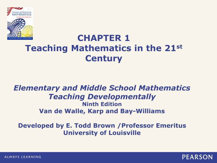 chapter 1 teaching mathematics in the 21 st century n.