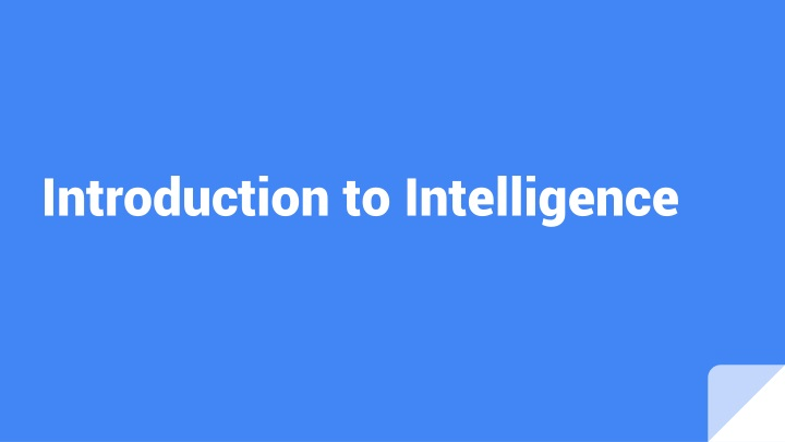 introduction to intelligence n.