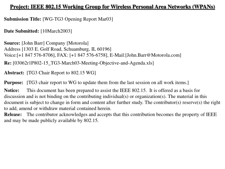 project ieee 802 15 working group for wireless n.