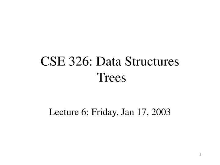 cse 326 data structures trees n.
