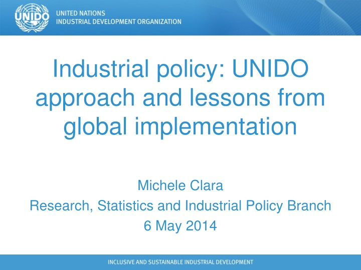 industrial policy unido approach and lessons from global implementation n.