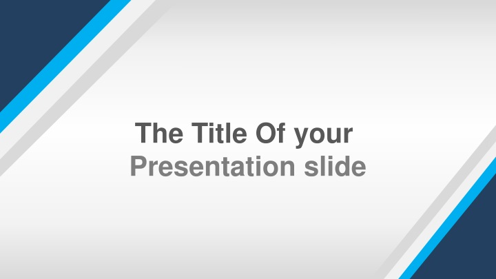 the title of your presentation slide n.