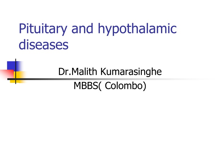 pituitary and hypothalamic diseases n.