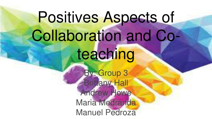 positives aspects of collaboration and co teaching n.