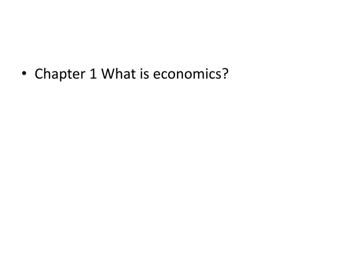 chapter 1 what is economics n.