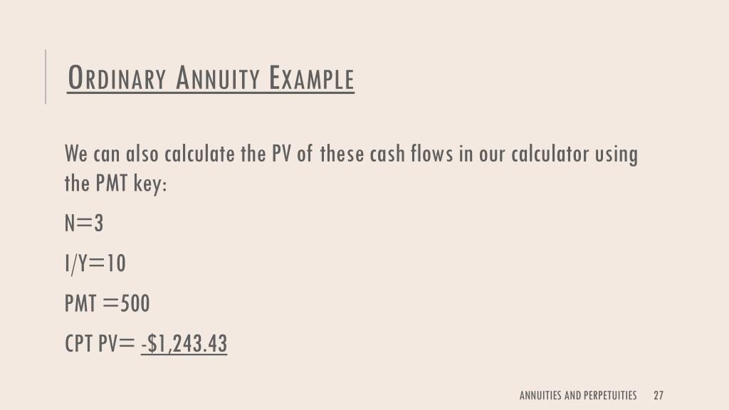 ordinary annuity calculator