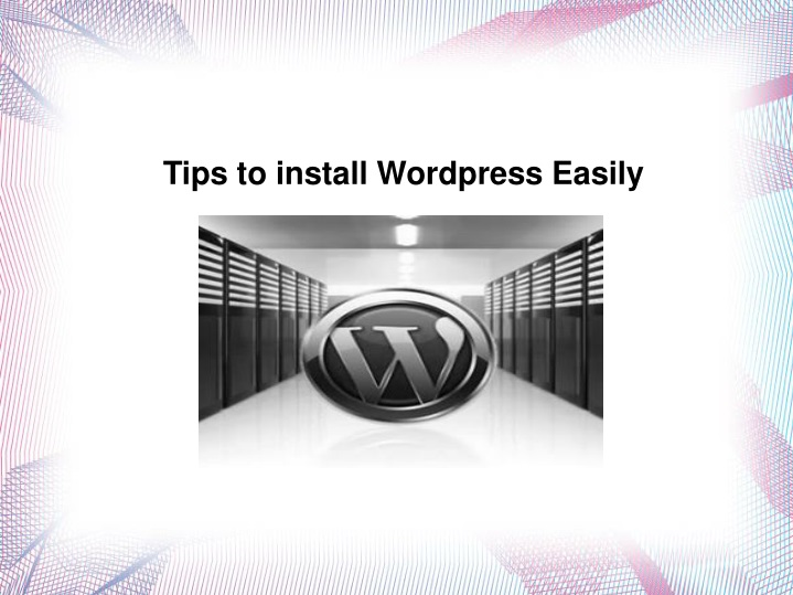 tips to install wordpress easily n.