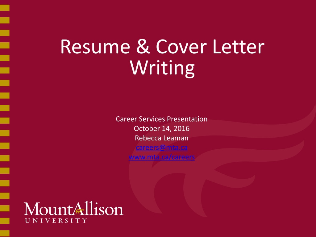 Career Services Cover Letter from image4.slideserve.com