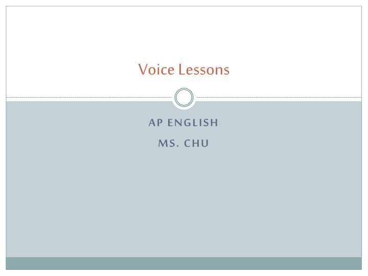 voice lessons n.