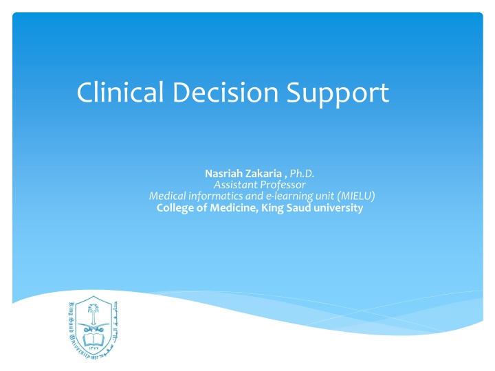 clinical decision support n.