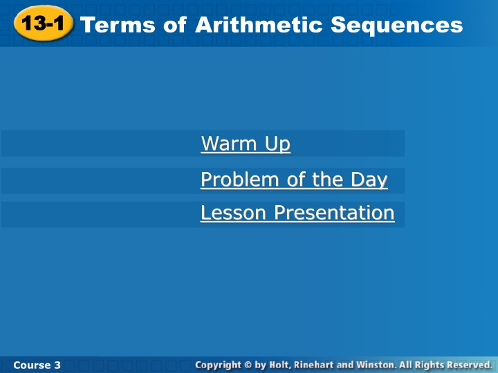 terms of arithmetic sequences n.