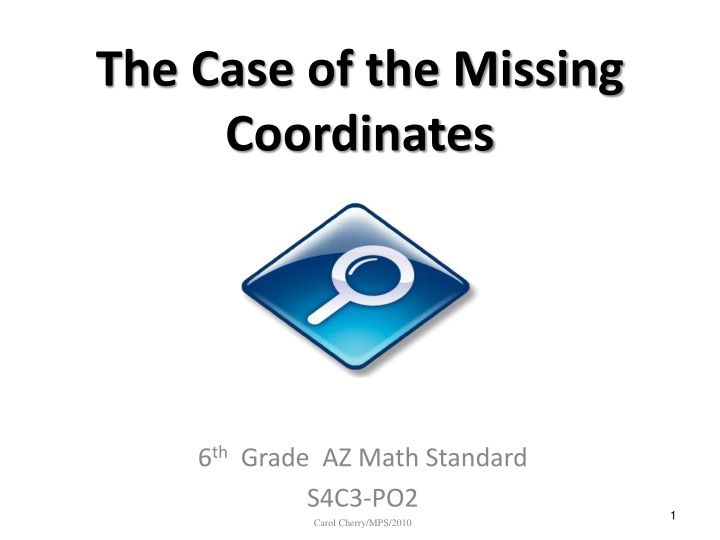 the case of the missing coordinates n.