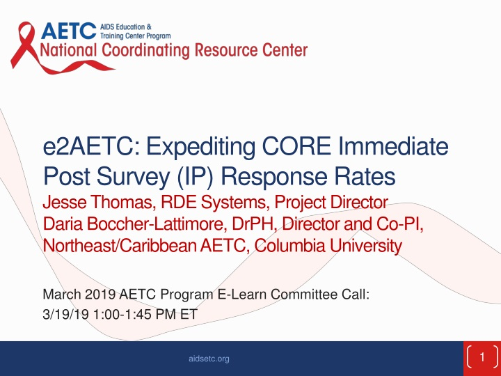 march 2019 aetc program e learn committee call 3 19 19 1 00 1 45 pm et n.