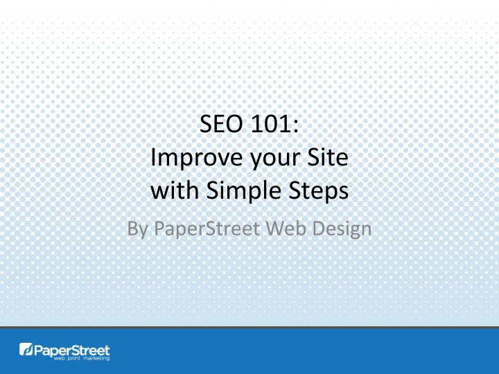seo 101 improve your site with simple steps n.