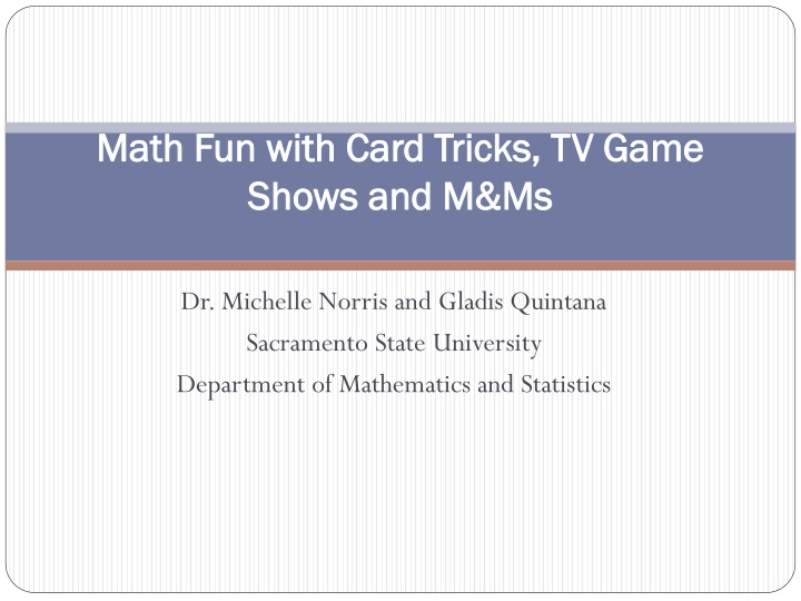 math fun with card tricks tv game shows and m ms n.