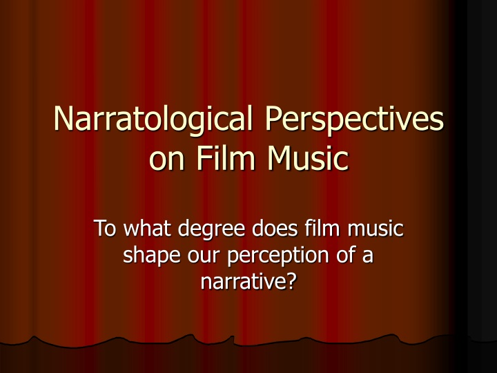 narratological perspectives on film music n.