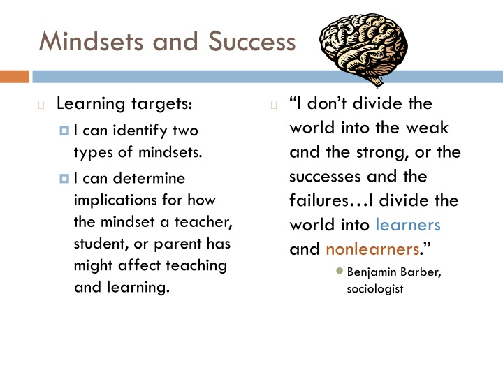 mindsets and success n.
