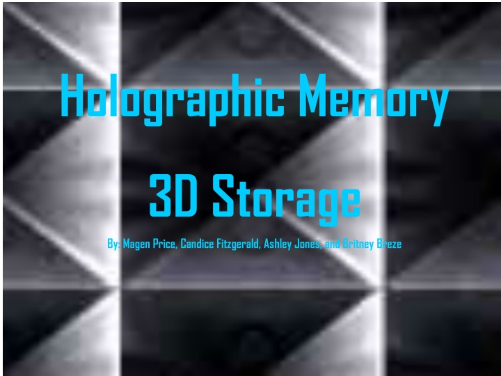 holographic memory 3d storage by magen price n.
