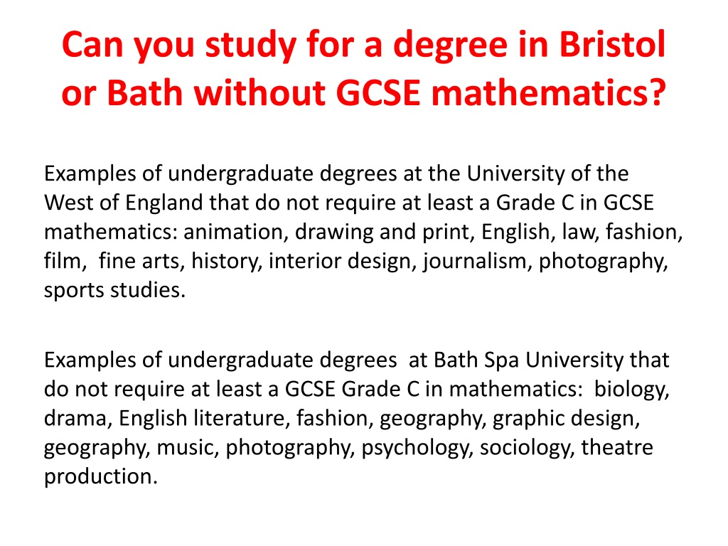 Bath Spa Mathematics