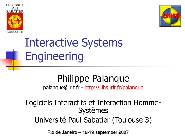 interactive systems engineering n.