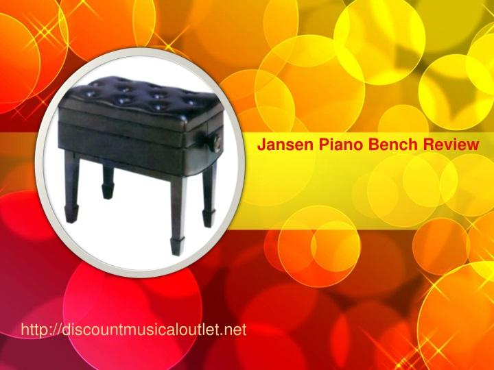 jansen piano bench review n.