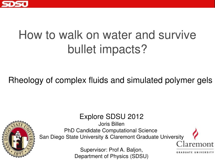 how to walk on water and survive bullet impacts n.