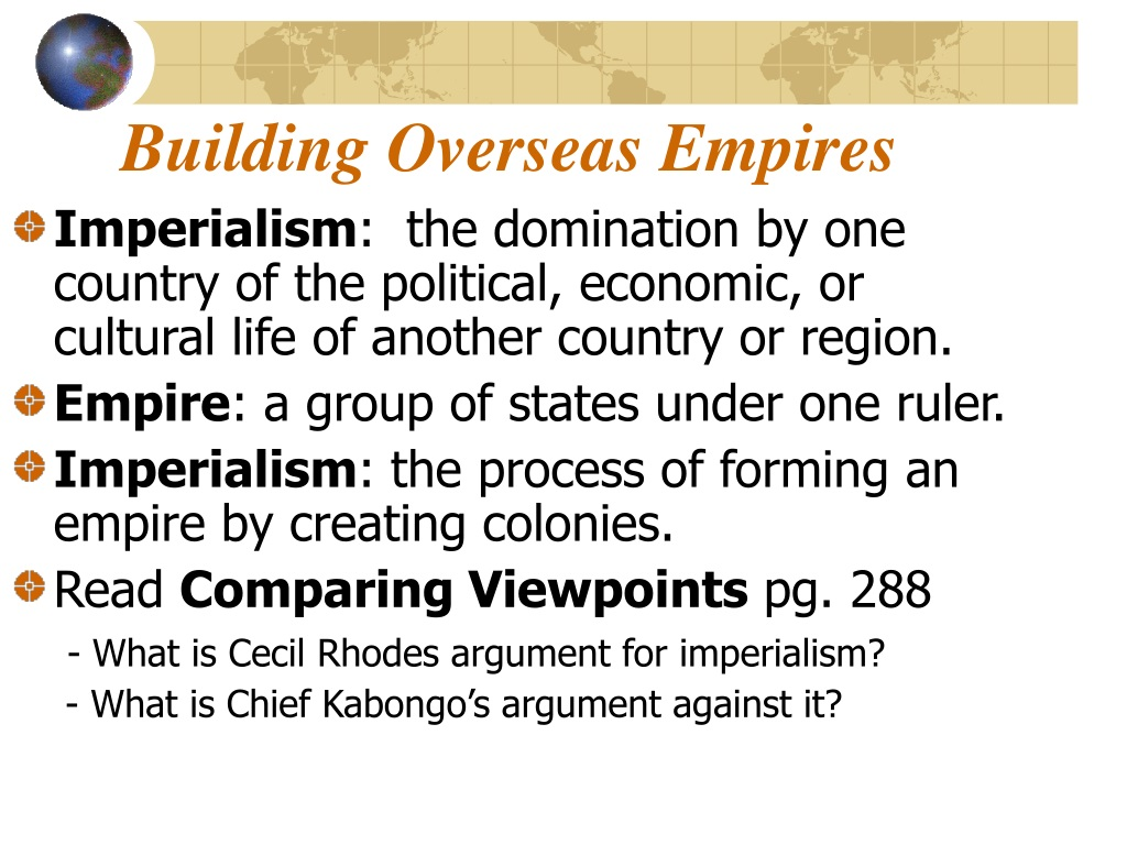 PPT - Chapter 9 The New Imperialism PowerPoint ...