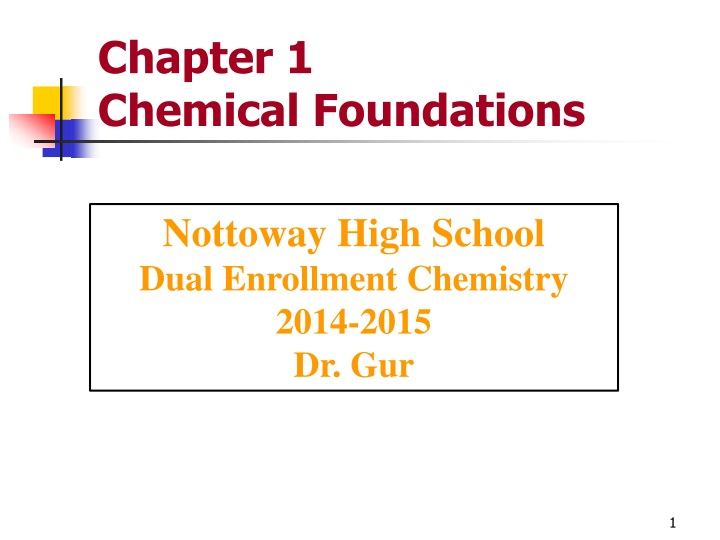 chapter 1 chemical foundations n.