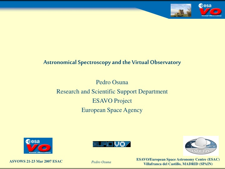 astronomical spectroscopy and the virtual n.