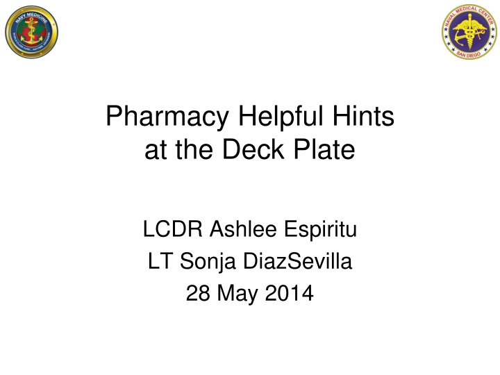 pharmacy helpful h ints at the deck p late n.