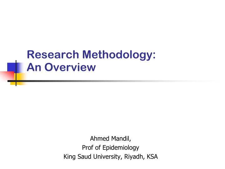 research methodology an overview n.