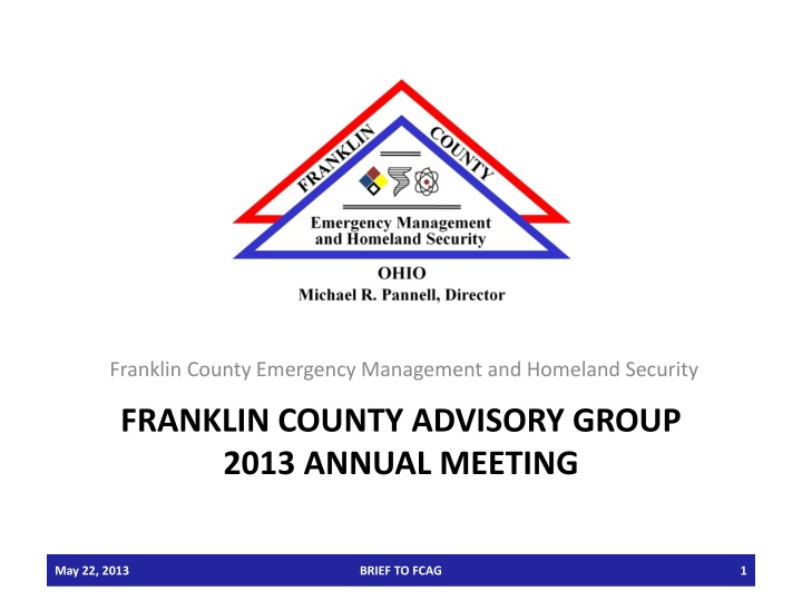 franklin county advisory group 2013 annual meeting n.
