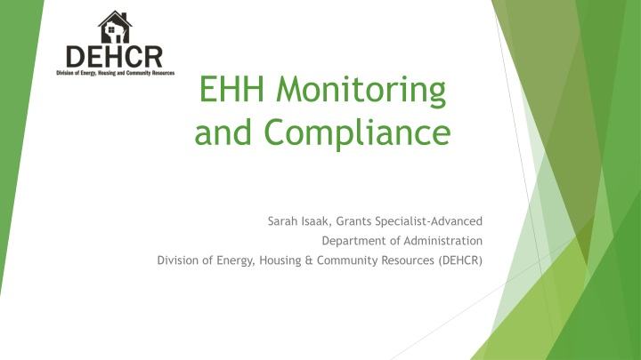 ehh monitoring and compliance n.