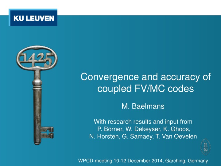convergence and accuracy of coupled fv mc codes n.