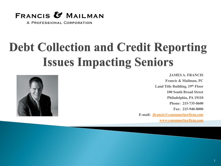 debt collection and credit reporting issues impacting seniors n.