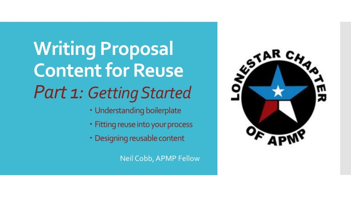 writing proposal content for reuse part 1 getting started n.
