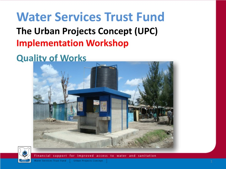 water services trust fund the urban projects n.