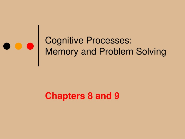 cognitive processes memory and problem solving n.