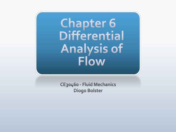 chapter 6 differential analysis of flow n.
