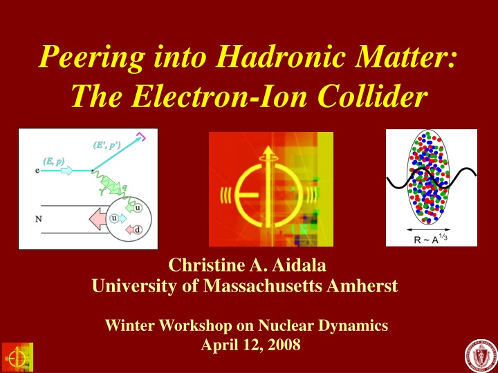 peering into hadronic matter the electron ion collider n.