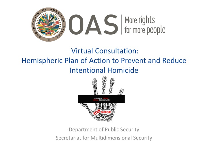 virtual consultation hemispheric plan of action to prevent and reduce intentional homicide n.